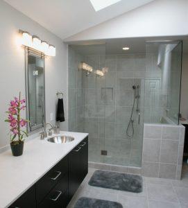 łazienka inspirowana kamieniem