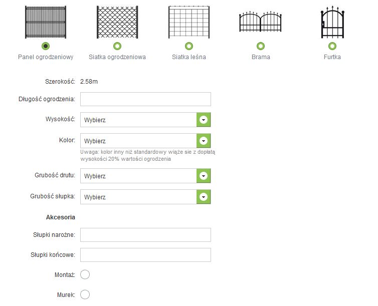 kalkulator kosztów ogrodzenia panelowego